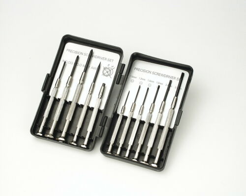 Mannesmann Precision Watchmakers Screwdriver Set 11 pcs Carbon Steel GS TUV VPA
