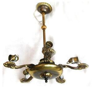 Details zu schönes altes Fragment Deckenlampe, Art Deco, aus Metall,  Messing Lampe