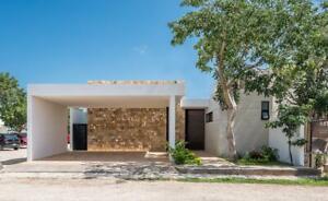 casa en venta en merida, yucatan, es de un piso en Temozon norte