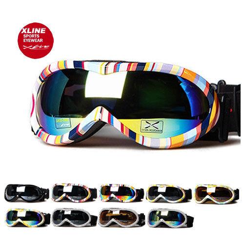 XLINE 8pp008 Womens Goggles SKI SNOWBOARD Snow Mirrored UV Double Mens Medium