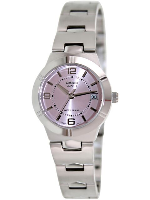 Casio Women's Core LTP1241D-4A Pink Stainless-Steel Analog Quartz Fashion Watch