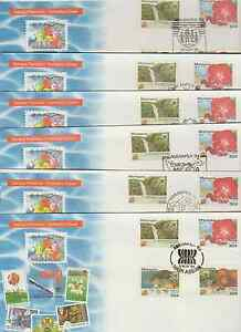 (F187E)MALAYSIA 1994 ASEANPEX'94 OPTD ON 6 EXHIBITION CVRS CAT RM 780 IF AS FDCs