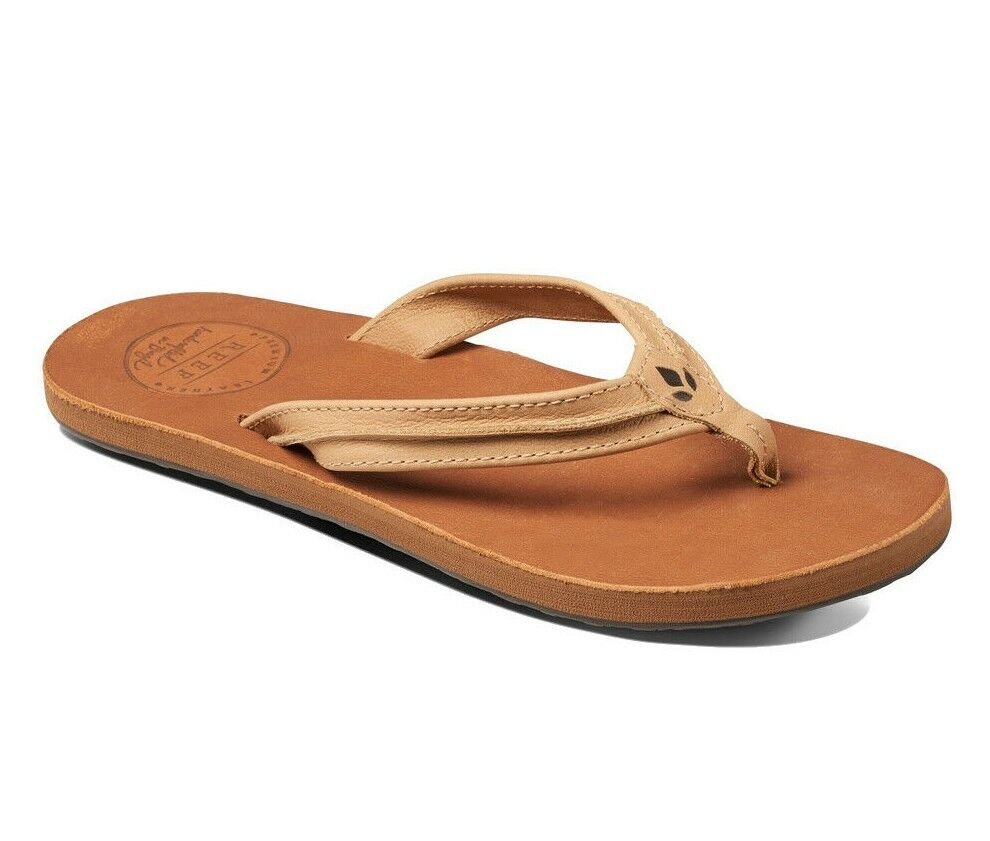 9aac67e48e51f Reef SWING 2 Tan Brown Handcrafted Premium Leather Sandals Women's Flip  Flops