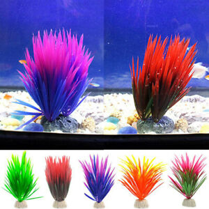 Artificial-Green-Plants-Narcissus-Water-Grass-Fish-Tank-Aquarium-Decor-Ornam-xb