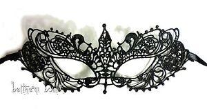 Goth-Masque-Dentelle-Victorien-Loup-NOIR-Crochet-Brode-semi-rigide-Gothique-1