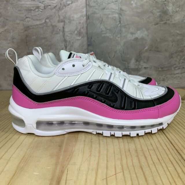 Nike Air Max 98 SE Size 8.5 Womens White Black China Rose Pink Running Shoes