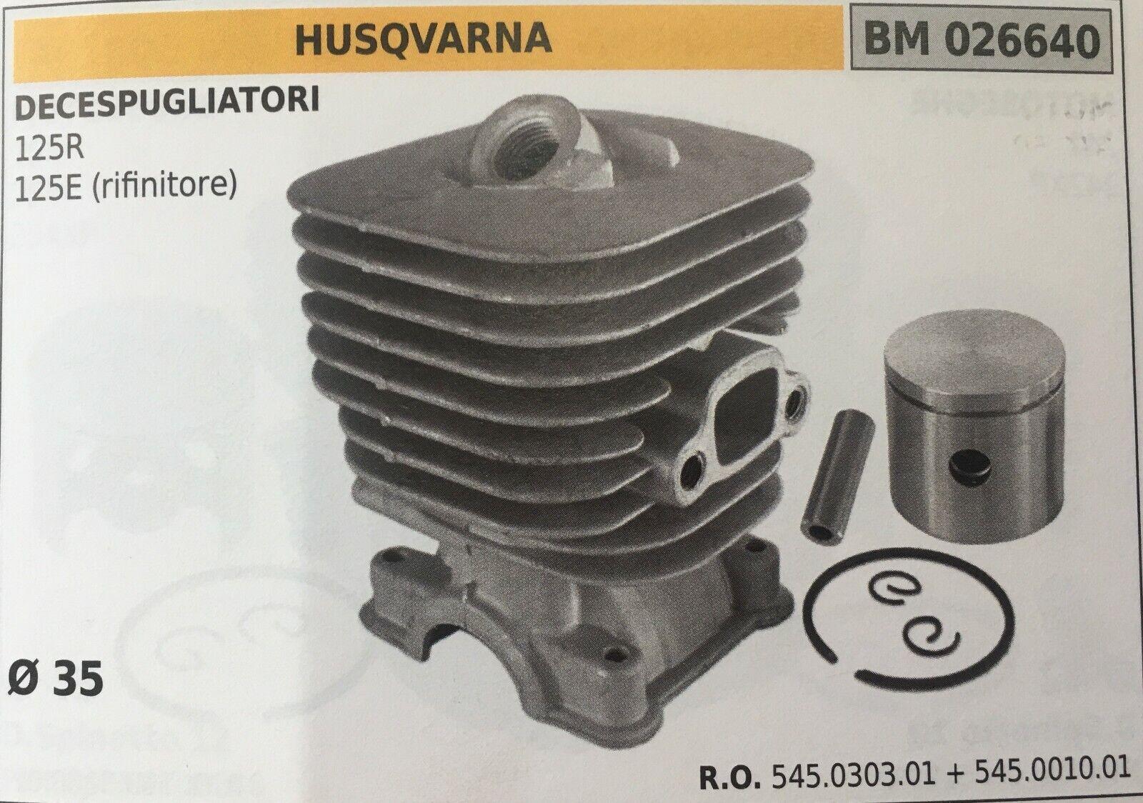 Cilindro Completo por Pistón y Segmentos Brumar BM026640 Husqvarna
