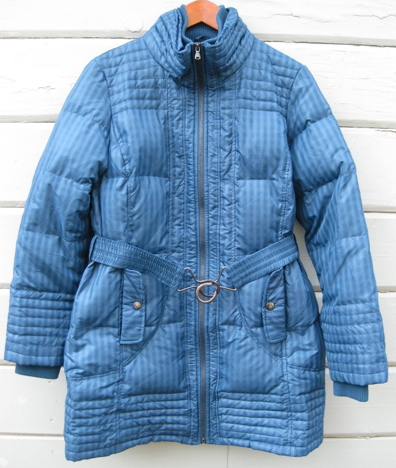 7365345e4 Puffer Down Quilted Plaid Shadow bluee Slate A.N.A. Belted Lg Wms ...