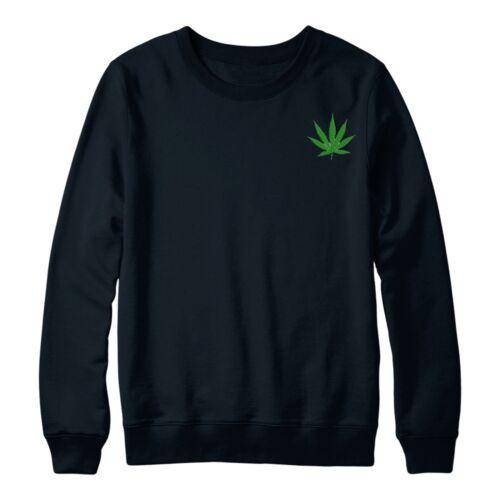 WEED Marijuana Maglione ADORO FUMARE tutti i giorni Ricamato Maglione Top
