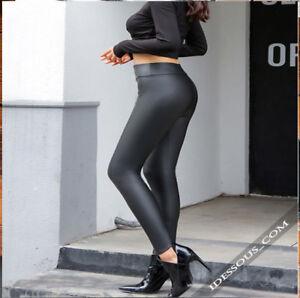 Leggings Estilo Cuero Mujer Stretch Pantalones Jeggings Licras Clubwear Xs S M L Ebay