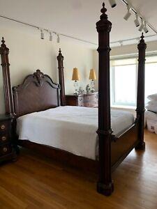 Details About Henredon Queen Cherry Wood Bedroom Set