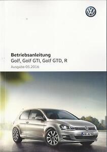 VW-GOLF-7-Golf-GTI-GTD-R-Betriebsanleitung-2016-Handbuch-Bordbuch-BA