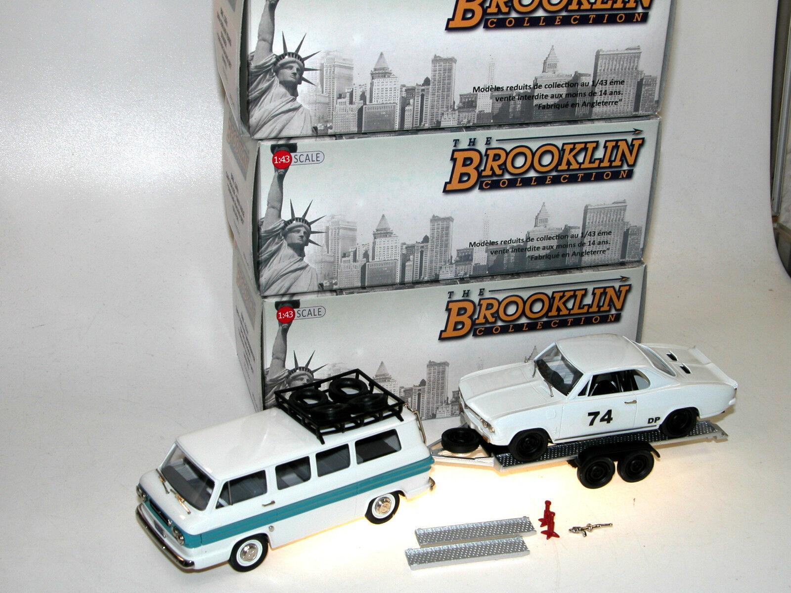 Brooklin BRK 213x Chevrolet Corvair Grünbrier + Yenko Stinger Racing Set 1 43