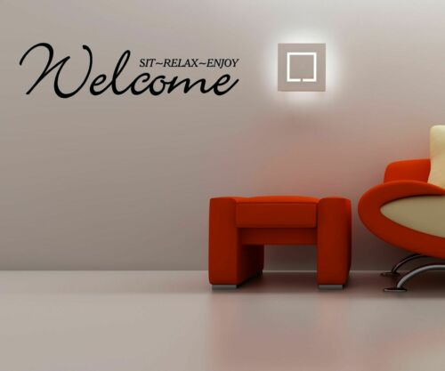 Bienvenue-SIT Relax Enjoy-Wall Art Decal autocollant