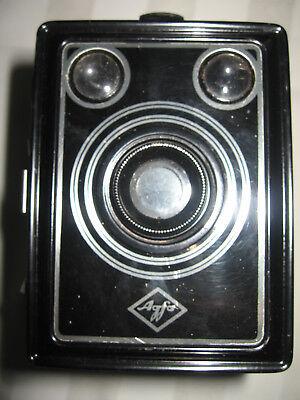 Photographica Alte Kameras Nett Agfa Box Fotokamera Boxkamera Antik Schwarz Sehr Schönes Dekoobjekt Mit Tasche Geschickte Herstellung