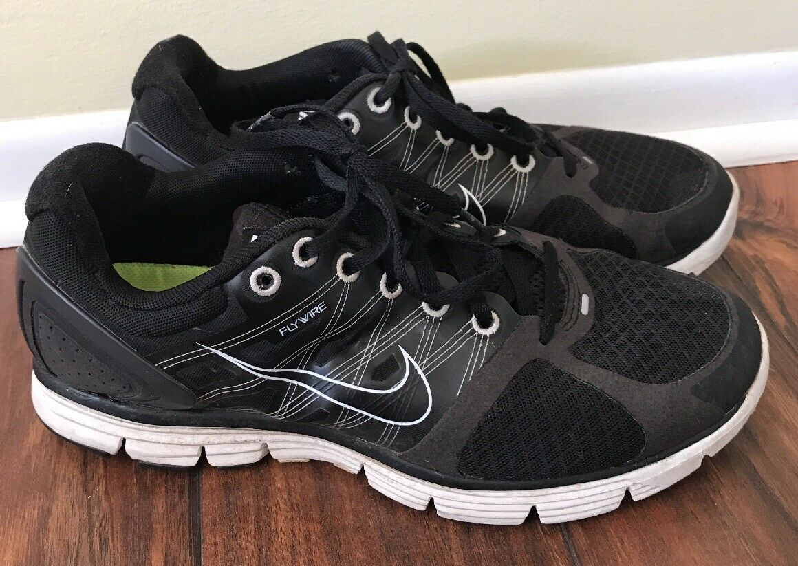 NIKE LUNARGLIDE 2 FLYWIRE BLACK GRAY RUNNING SHOES MEN SIZE 9 407647-031 Comfortable and good-looking