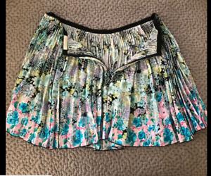 NINA RICCI Floral Print Pleated Skirt SZ 40 NWT RUNWAY RETAILS ,950