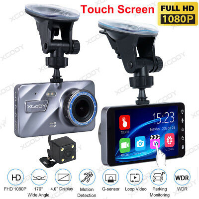 "4/""1080HD Touch Screen Car DVR Camera Video Recorder Dash Cam w// Night Vision UK"