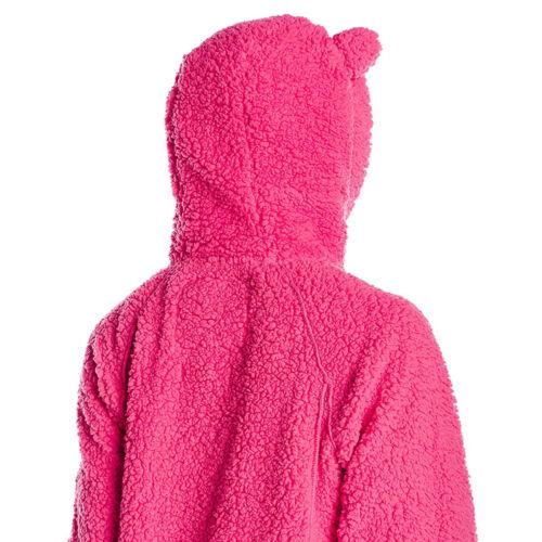 polar fleece jacket with Bear ears CORAL BEARPAW Women/'s St Petersburg hoodie
