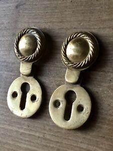 Vintage Escutcheon Keyhole Brass Antique Door Hardware Reproduction £8 Each