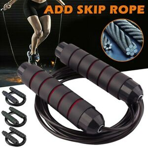 Crossfit Jump Rope Speed /& Weighted Jump Ropes with Speed Cable Ball Beari ZX