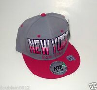 Sale York Gray Red Embroidery Snapback Hat Baseball Dancing Hiphop Cap 1sz