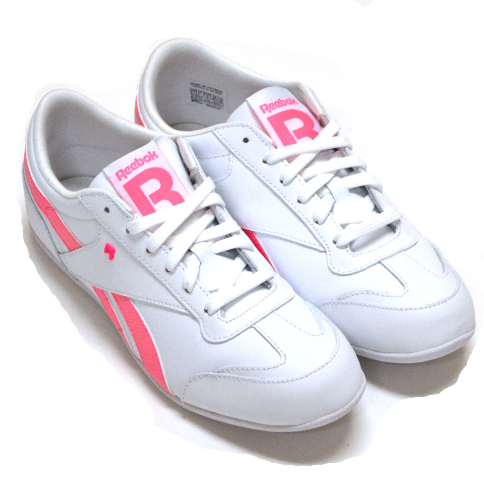 Reebok Damenschuhe Classic Schuhes Lucky Wish Sneakers V47671 Pink Weiß Leder Sneakers Wish New 2a2ed8