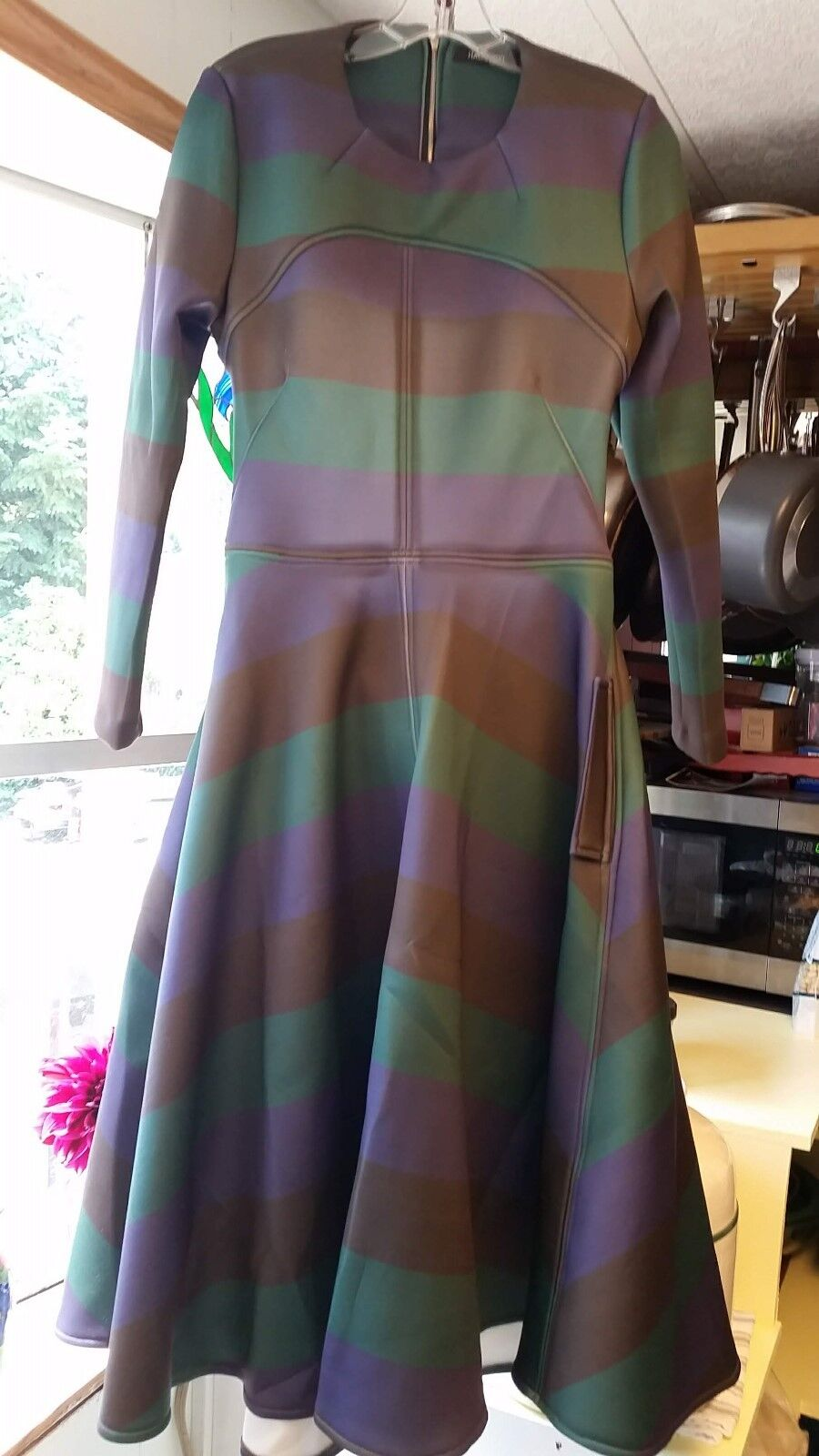 HAODUOYI Dress, XXL, PLUS, Open back. Full swing, long sleeve. WINTER dress. NEW