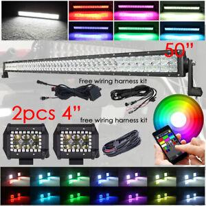 5D-RGBW-50-034-288W-LED-Light-Bar-4-034-30W-RGB-Halo-Pods-amp-Free-Wiring-Harness-Kits