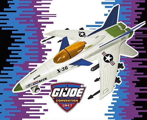 GIJoeCon Exclusive 3 3 4  BF 2000 Vector X-30 X-30 X-30 Combatiente Jet ac8b9a