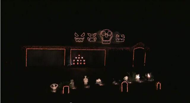 NEW LIGHTORAMA HALLOWEEN SEQUENCE  LIGHT-O-RAMA to Uma Thurman FACES ONLY