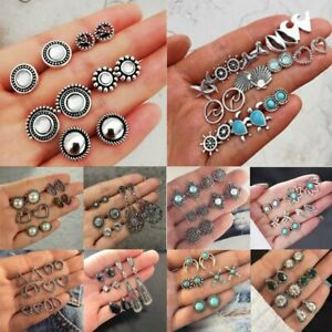 Boho-Fashion-Elegant-Rhinestone-Crystal-Pearl-Earrings-Set-Jewellery-Ear-Stud