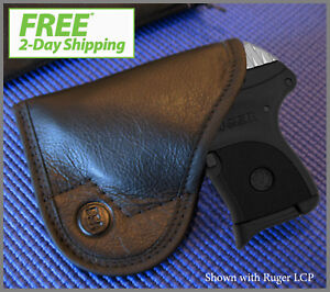 5-STAR-CONCEALED-CARRY-Leather-Pocket-Holster-Fits-Ruger-LCP-M-amp-P-BodyGuard