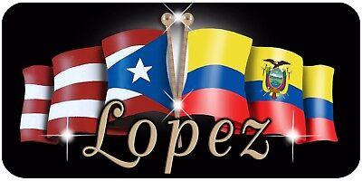 USA Ecuador Unity Flags Auto Size License Plate Gifts Ladies Men Car Accessories Flag of Ecuador Personalize