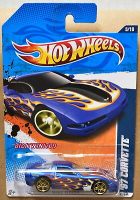 Sinnvoll Hot Wheels 2011 Heat Fleet '97 Corvette Blau Autos, Lkw & Busse