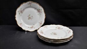 Charles-Field-Haviland-CHF774-Pink-Flowers-Set-of-4-Dinner-Plates