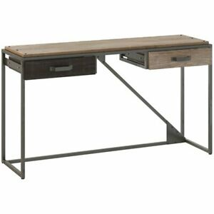 Refinery Console Table with Drawers in Rustic Gray - Engineered Wood