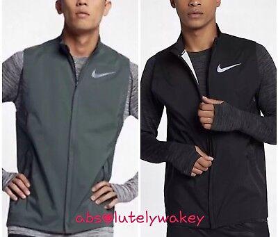 Nike HyperShield Men's Running Gilet Zip complet Dri FIT Fermeture Éclair Poches | eBay