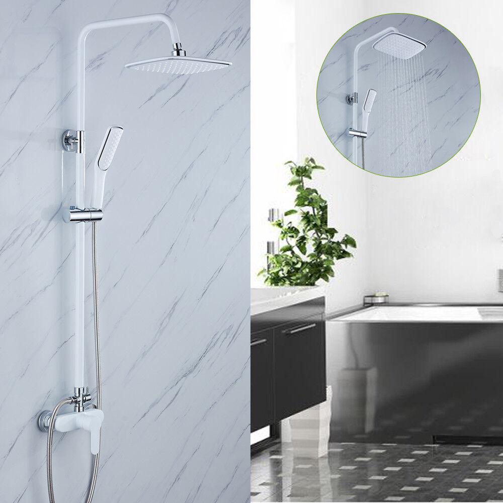 Colonna soffione quadrato doccetta a mano sistema per bagno accessori da doccia