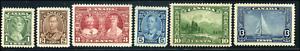 Canada #211-216 mint VF OG H/HR 1935 King George V Pictorial Issue Part Set