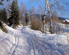 Monsted Mork Peder A Sunlit Winter Landscape Print 11 x 14   #4843