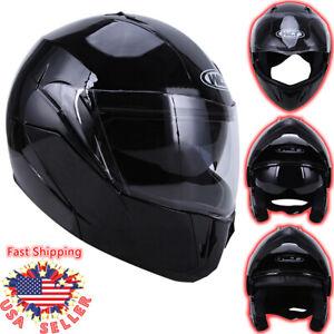 DOT Flip up Modular Full Face Motorcycle Helmet Dual Visor Race Sport Motocross