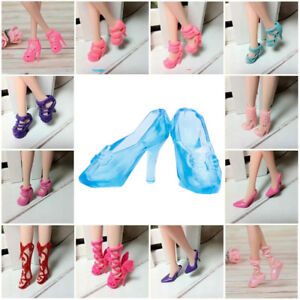 40Pairs-Different-High-Heel-Shoes-Boots-For-Doll-Dresses-Clothes-Random