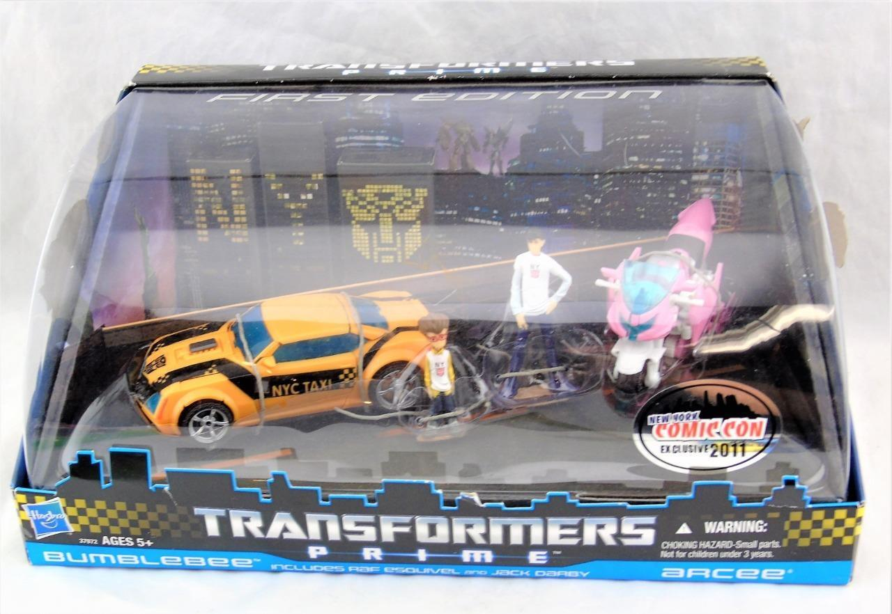 Transformers Prime NYCC Exclusive First Edition Bumblebee and Arcee MISB