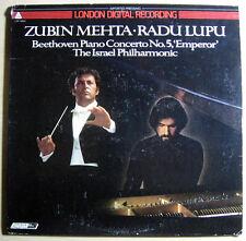 Zubin Mehta IPO Radu Lupu Beethoven Piano Concerto No. 5  UK LP NM-/VG DR 10005
