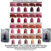 Avon Perfectly Matte Lipstick Samples 20 Gorgeous Shades ~ Free P&P ~ New