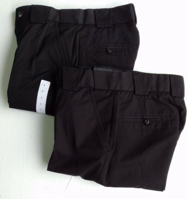 NWT LOT OF 2  5-11 Tactical Pants Black Poly Rayon Tunnel Waist 28x27 UNHEMMED