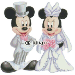 Image Is Loading Mickey Minnie Mouse Wedding Cross Sch Pattern