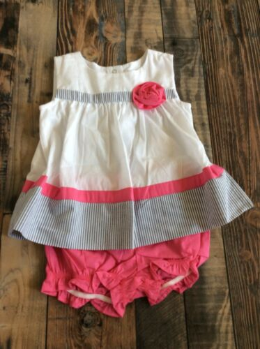 Gymboree Baby Girls 2 piece outfit seersucker easter Dressy Pink Nwt 18-24 M