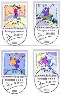 BRD-1997-Sporthilfe-Nr-1898-1901-mit-den-Bonner-Ersttags-Sonderstempeln-1A